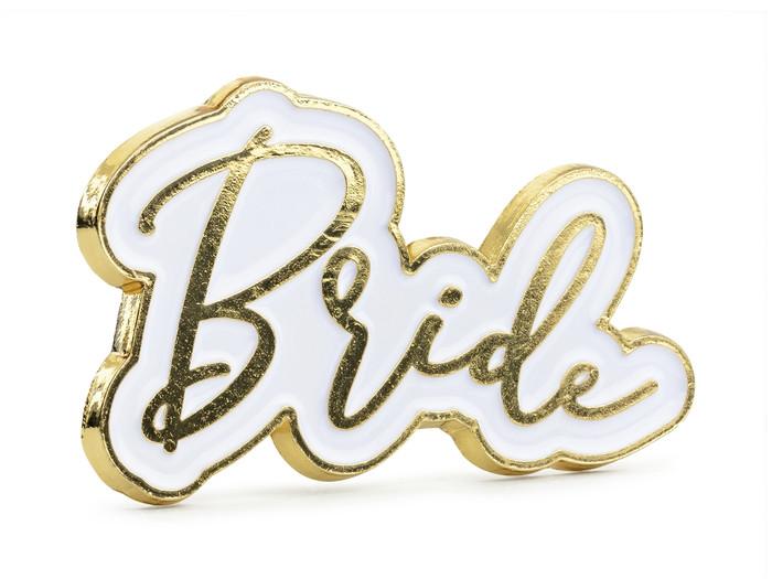 Enamel pin, Bride