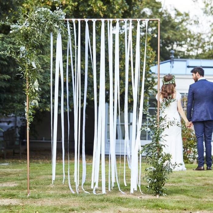 White Ribbon Hanging Wedding Decoration