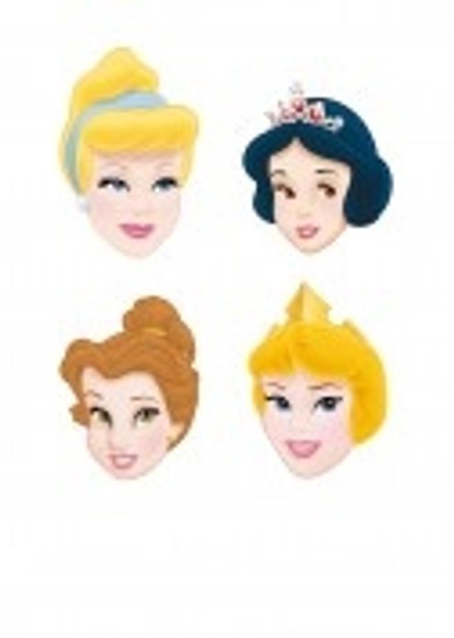 4 Princess Masks Props