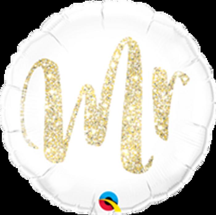 "18"" Mr Gold Glitter Foil"