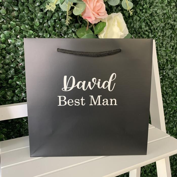 personalised black bag