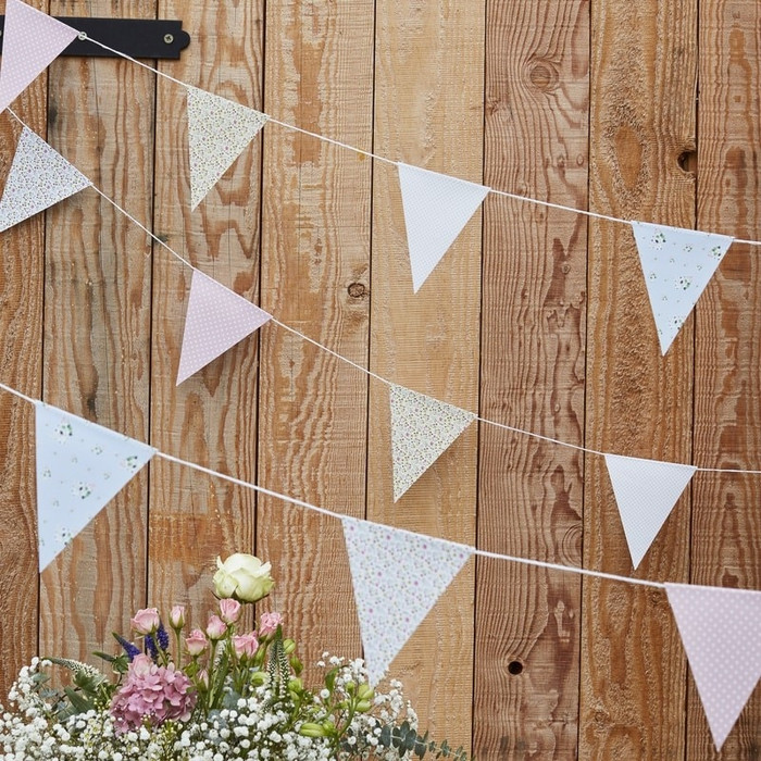 Floral Print Bunting - Rustic Country