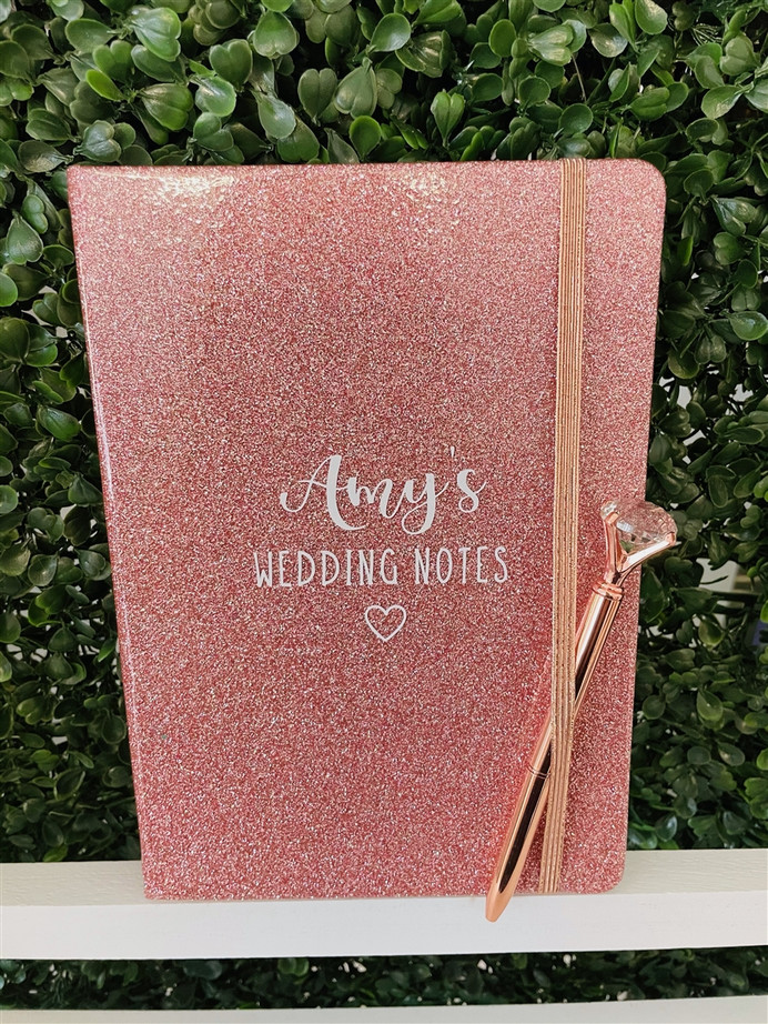 personalised wedding notes diary bride to be