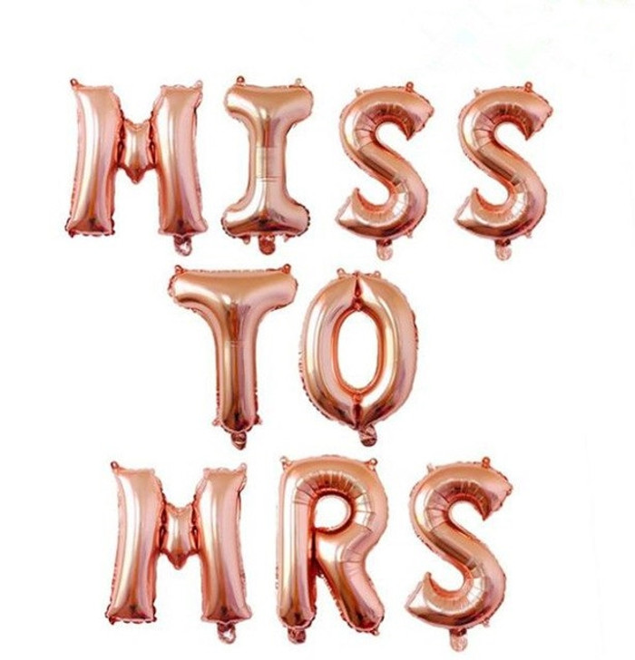 Balloons,  Miss to Mrs,  Rose Gold