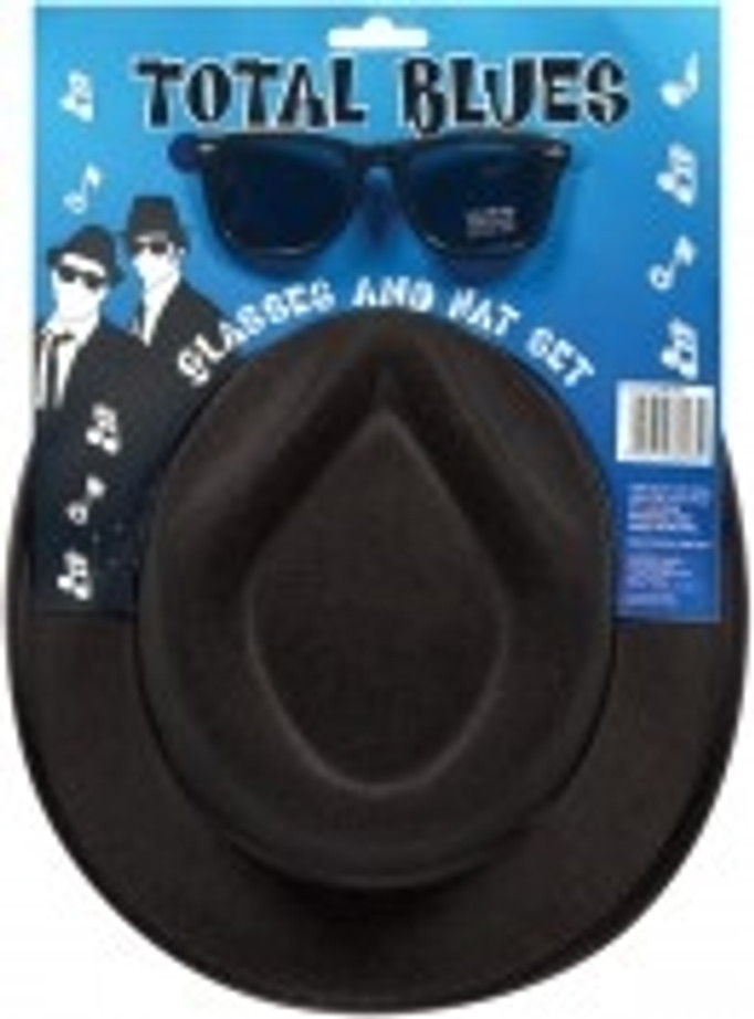 Blues Brothers Hat with Glasses