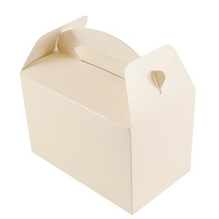 Party Box, (6) Ivory With Handles, 10lx15wx9hcm