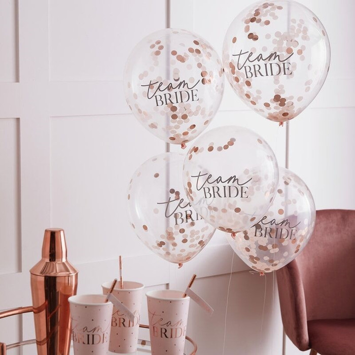 Blush - Confetti Balloons Team Bride