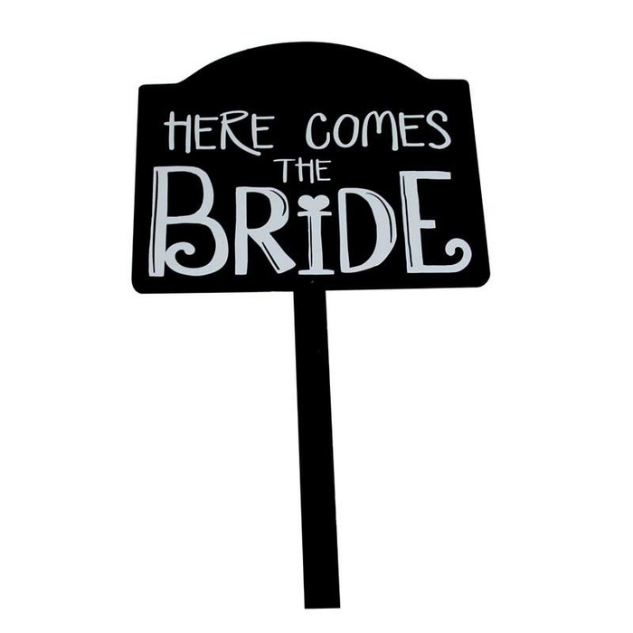 Here Comes the Bride sign rental