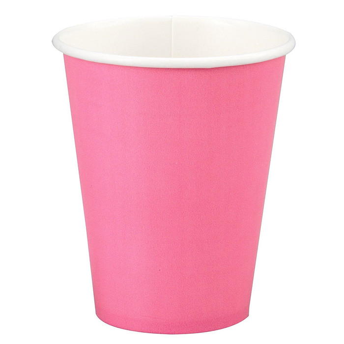 Fuschia Pink 8oz Cups (8 Per Pack)
