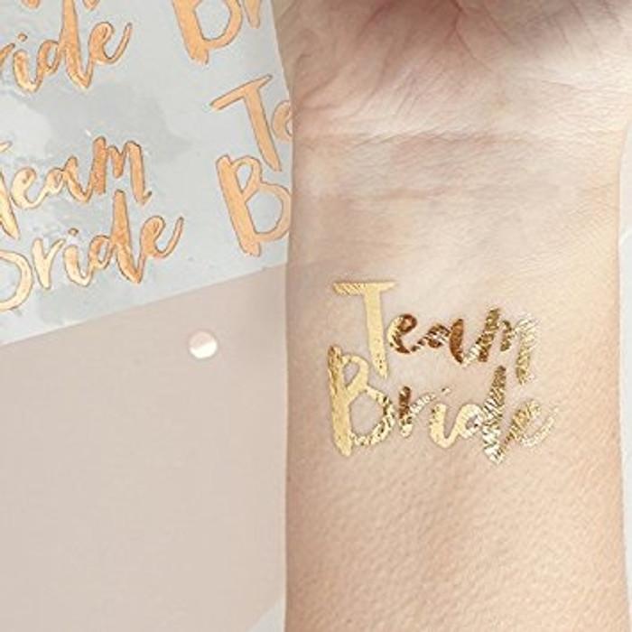 Team Bride Rose Gold Tattoo's
