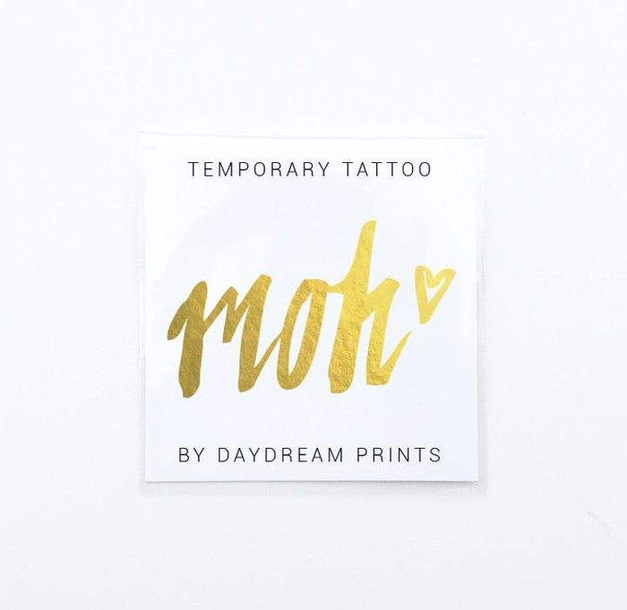 Gold Temporary Tattoo, MOH (1)