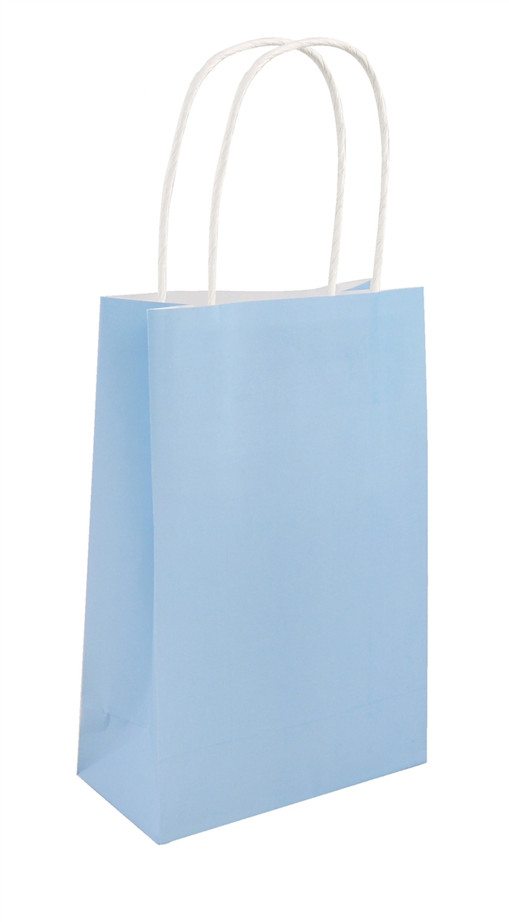 Party Bag, Baby Blue with Handles, 14Wx21Lx7Dcm