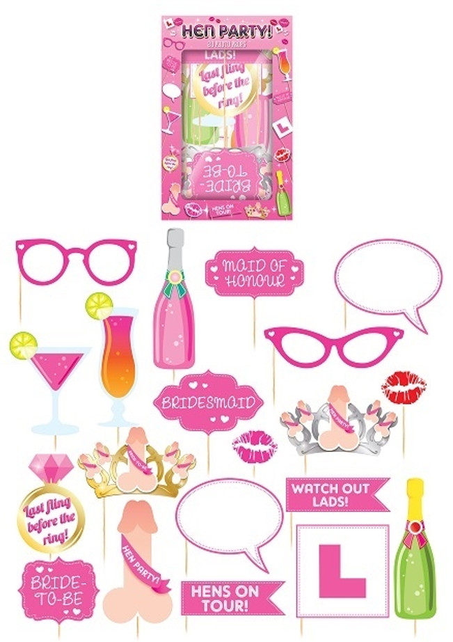 20 Photo Booth Props - Hen Party