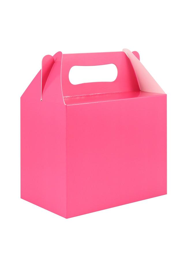 Fuschia Party Box, (6) With Handles, 14x9.5x12cm