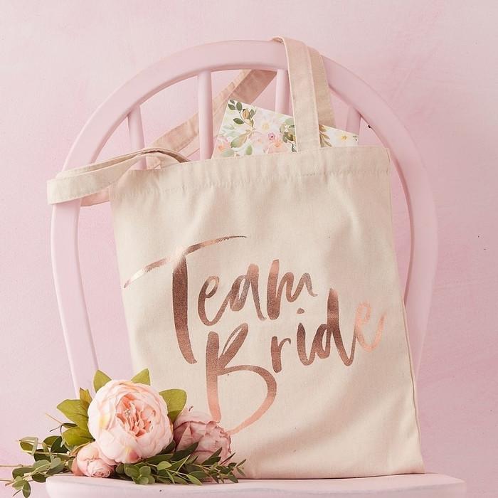Team Bride Printed Tote Bag - Floral Hen Party