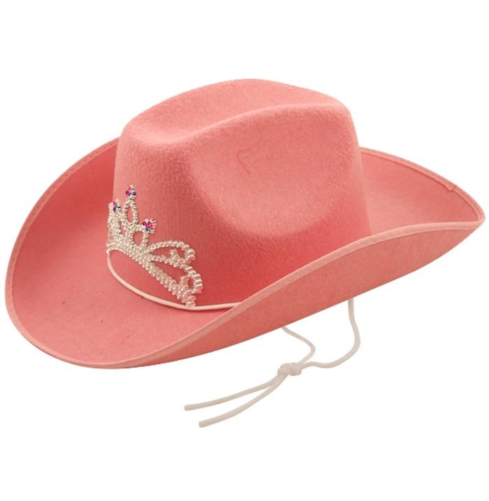 Hat Cowboy Tiara Pink Adult