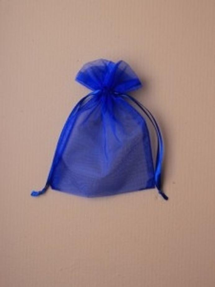 Organza Gift Bag 15 x 11cm, Royal Blue