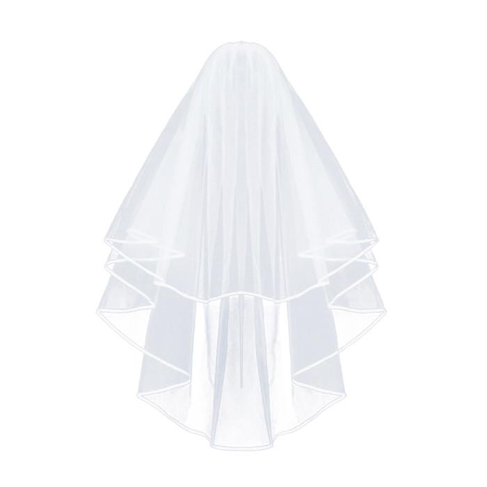 Veil White with Satin Trim