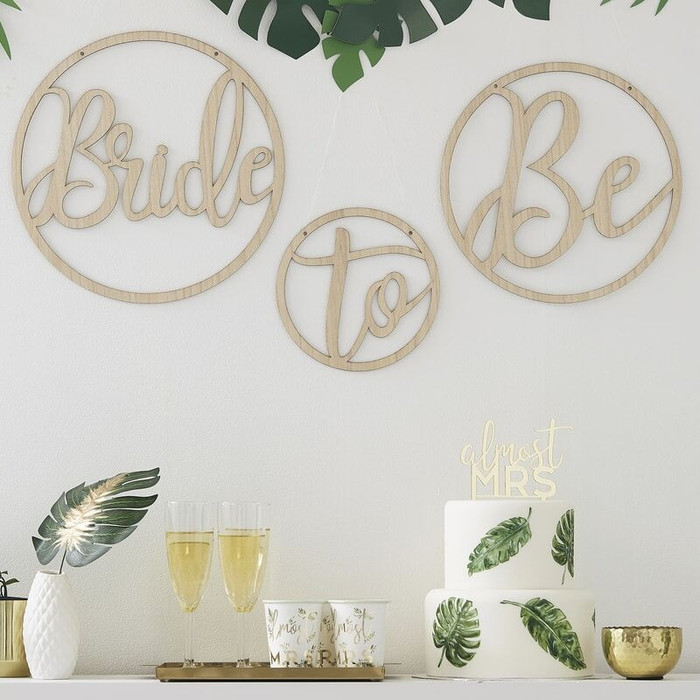 Wooden Bride to be Decoration