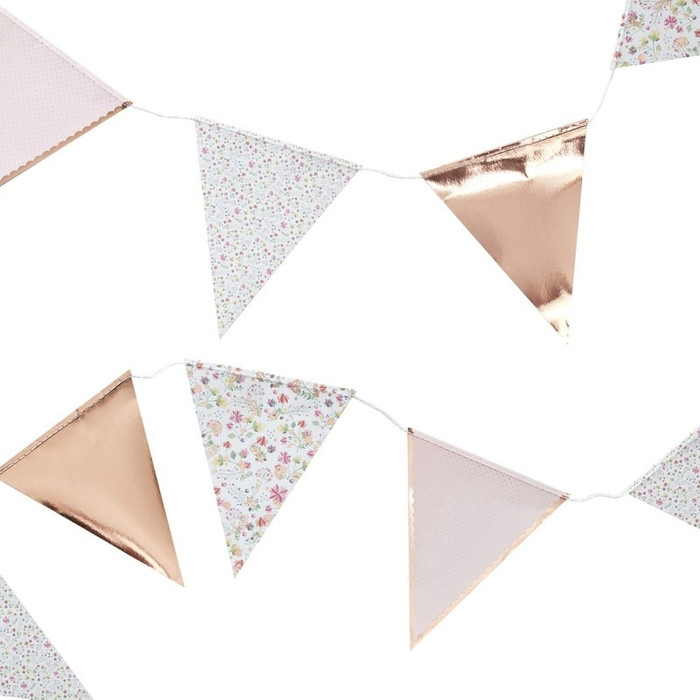 Bunting,  Ditsy Floral,  Rose Gold
