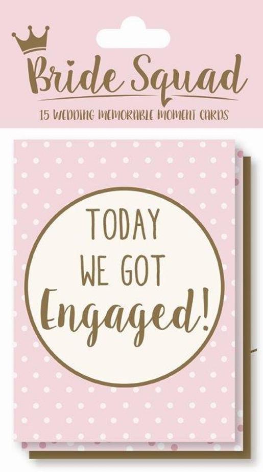 15 Bride Squad Wedding Moment Cards
