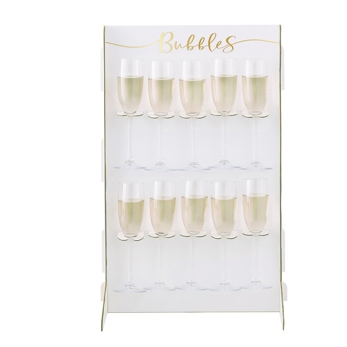 Prosecco Bubbly Drinks Wall Holder - Gold Wedding