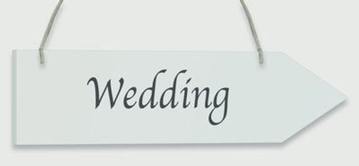 Wooden Arrow Whitewash 30.5cm x 7.6cm Wedding 1pc