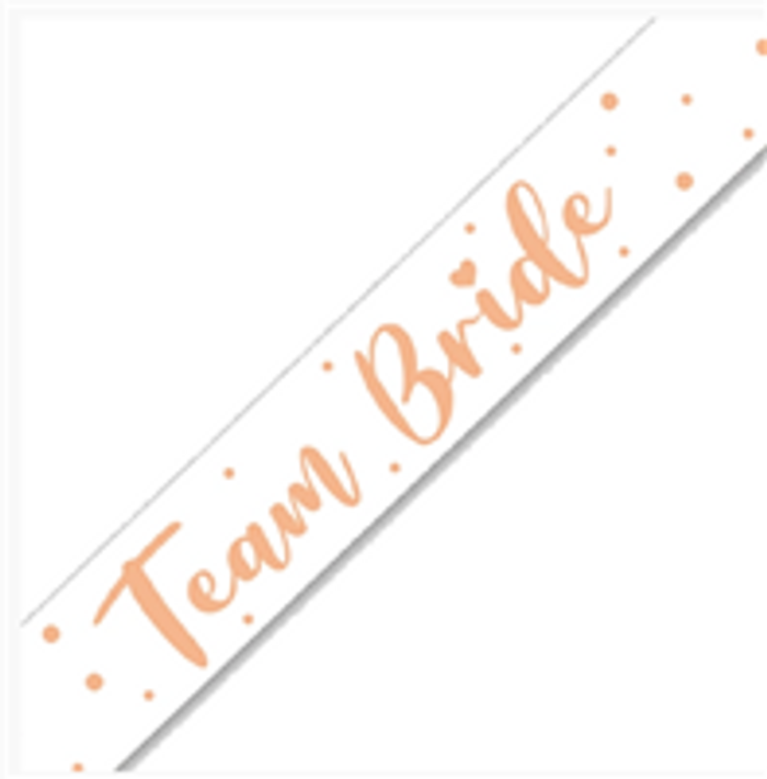 Team Bride Holographic Banner - 2.7m