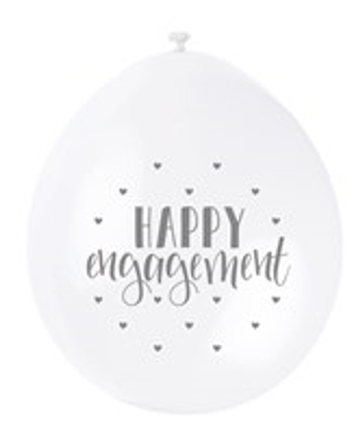 Balloons Happy Engagement, 9 inch (10)
