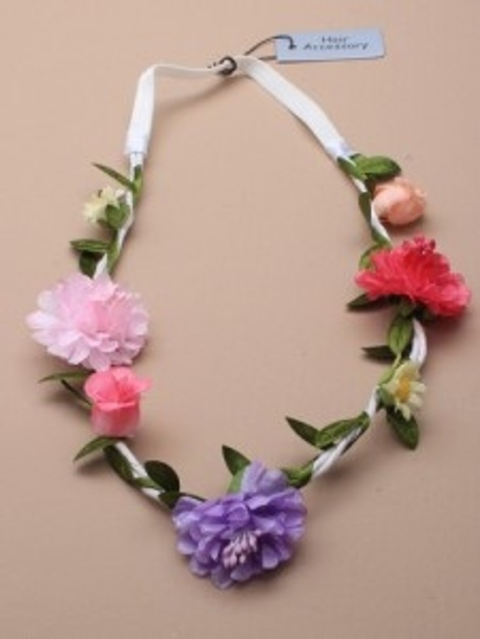 Flower White Cord Flower Garland Bandeaux / Browband.