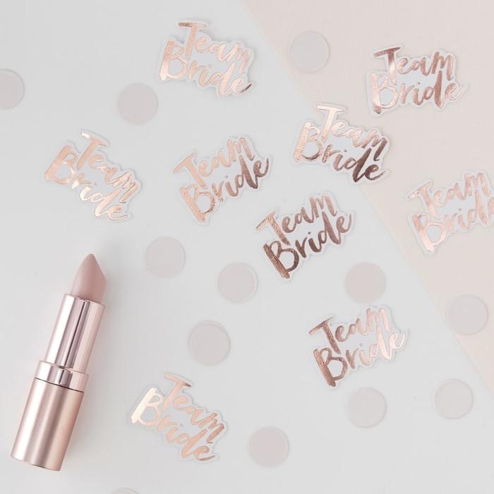 Confetti, Team Bride, Rose Gold