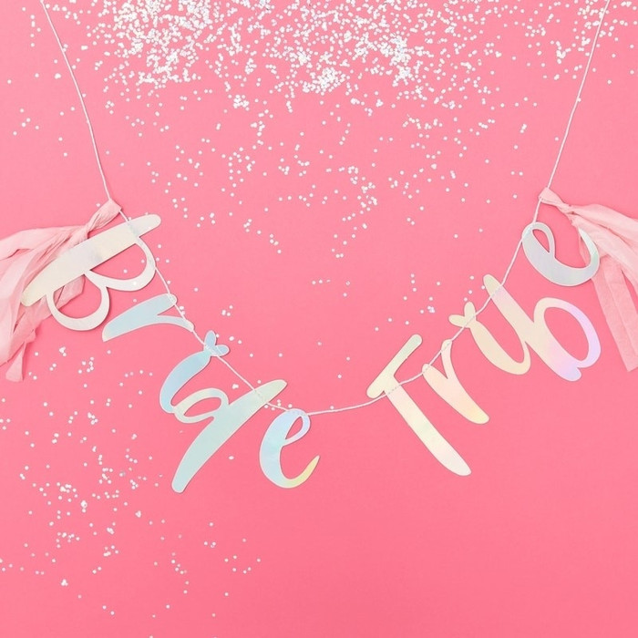 Iridescent Bride Tribe Hen Bunting - Bride Tribe