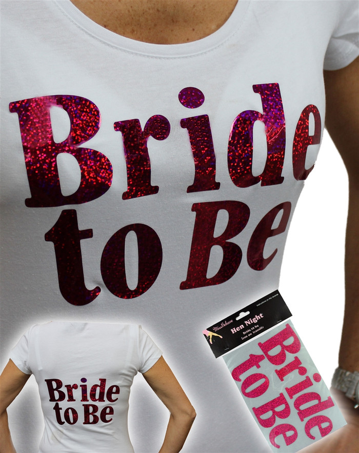 Iron on Transfer, Large Pink Bride to  be