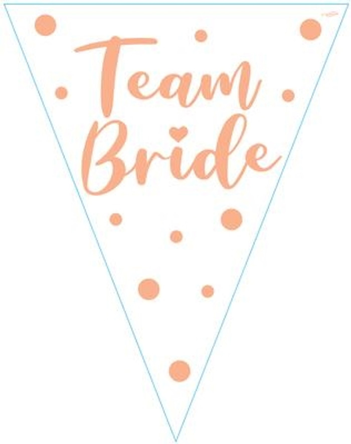 Team Bride Party Bunting 11 flags 3.9m