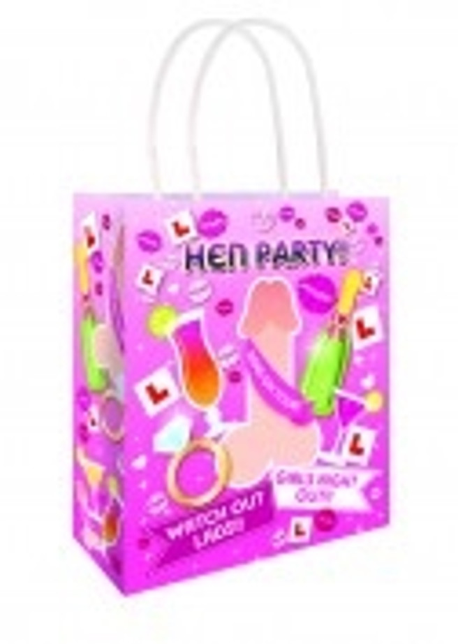 Willy Hen Party Bag 22 X 18 X 8cm