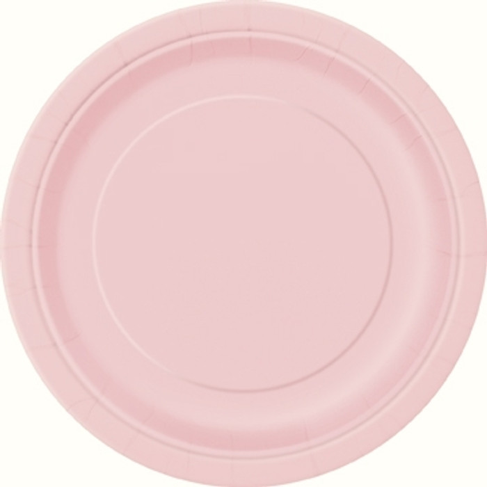 """Baby Pink 9"""" Round Plates ( Pack of 8)"""