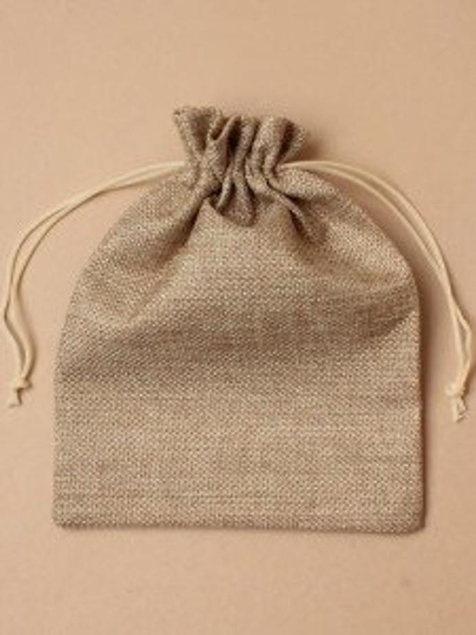 Jute Drawstring Gift Bag, 14.5cm by 9.5cm
