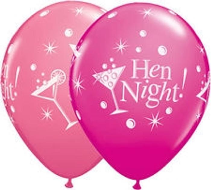 "11"" Hen Night Latex Balloons (6 Pack)"