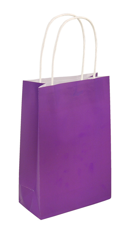 Party Bag, Purple with Handles, 14Wx21Lx7Dcm