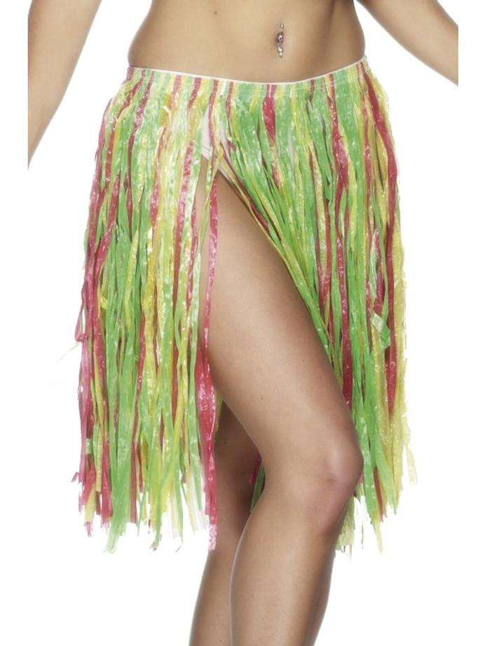 Hawaiian Hula Skirt, Multi-Coloured, Elasticated,