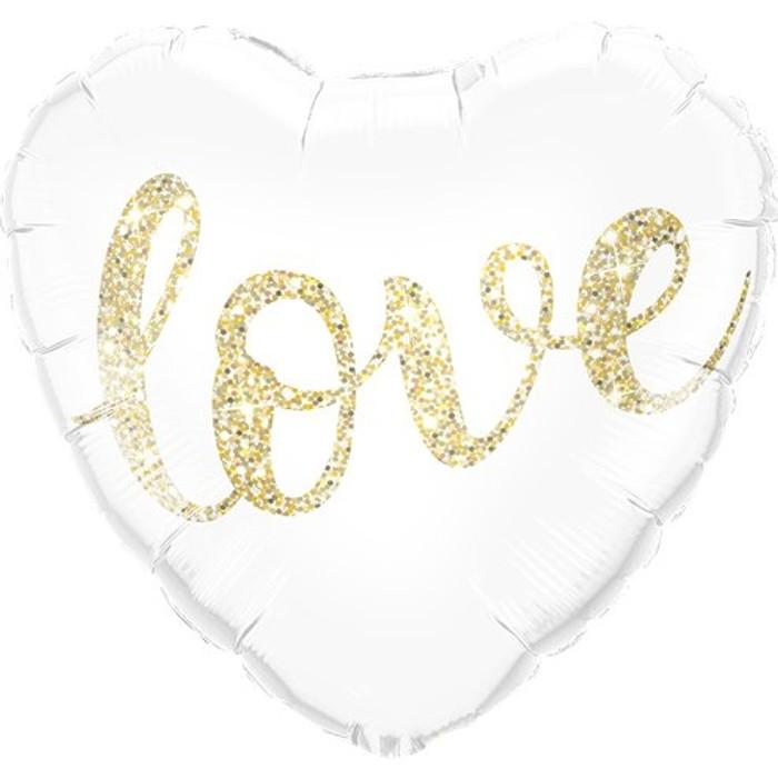 "18"" Love Gold Glitter Foil"