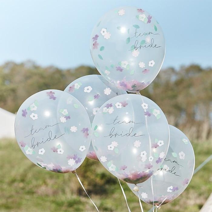 Boho Floral Confetti Balloons