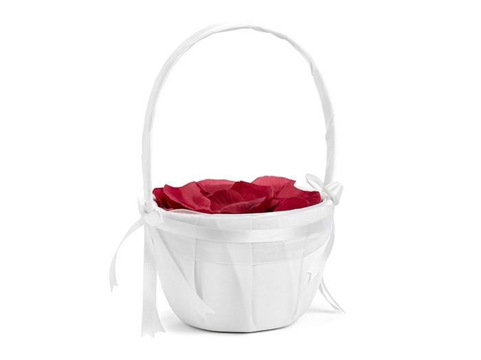 Wedding Basket for Petals, White