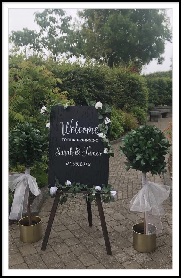 Welcome sign rental 2