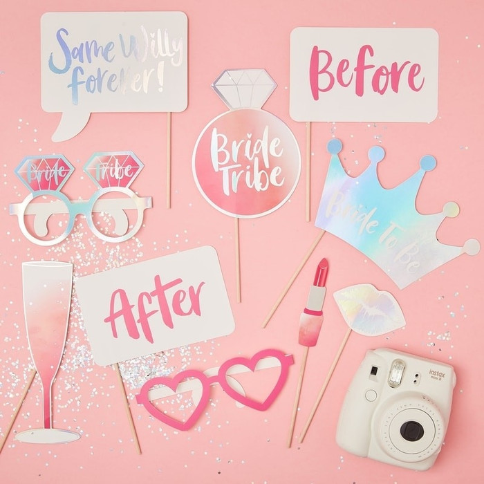 Hen Party Photo Booth Props - Bride Tribe
