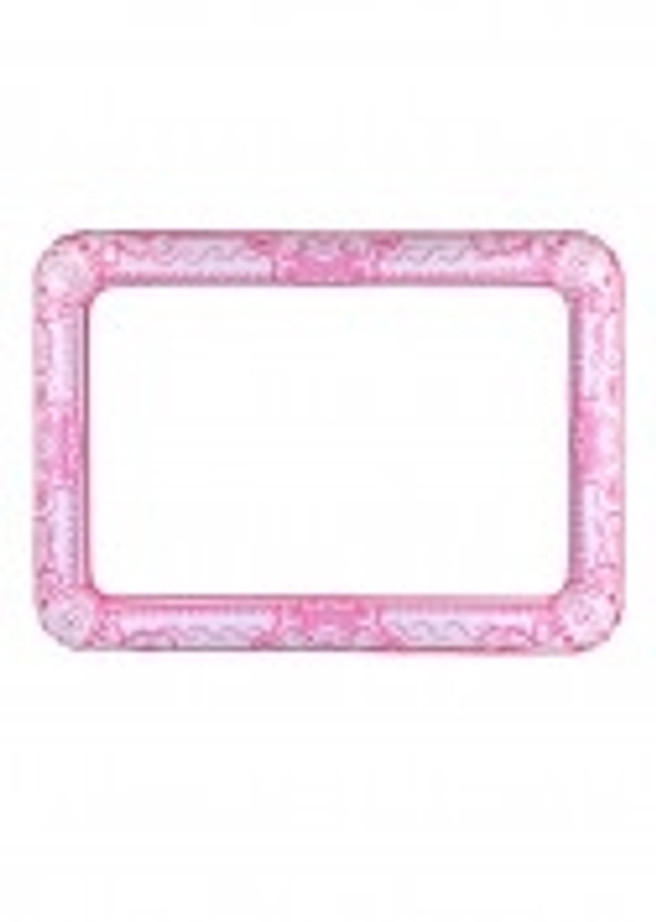 A Pink Inflatable Selfie Frame