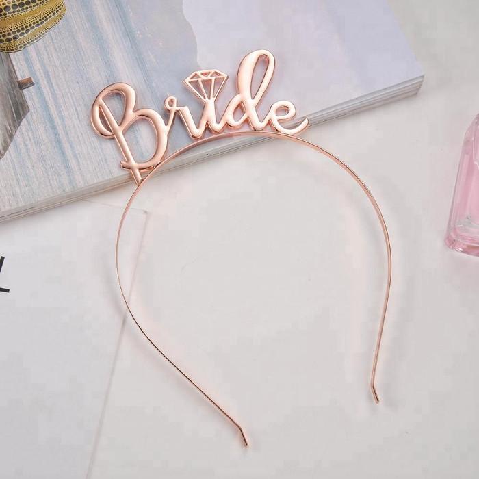 Bride Rose Gold Headband