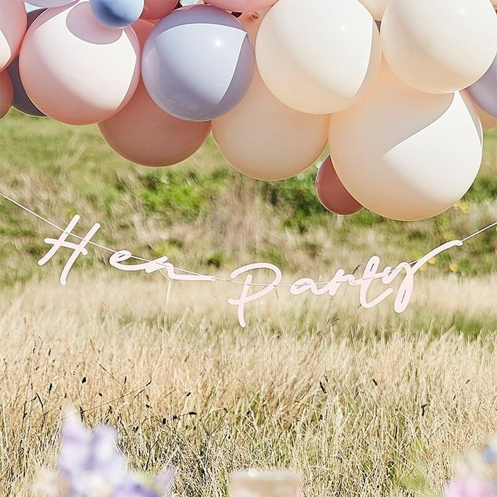 Bunting, Boho Hen Party, Pink