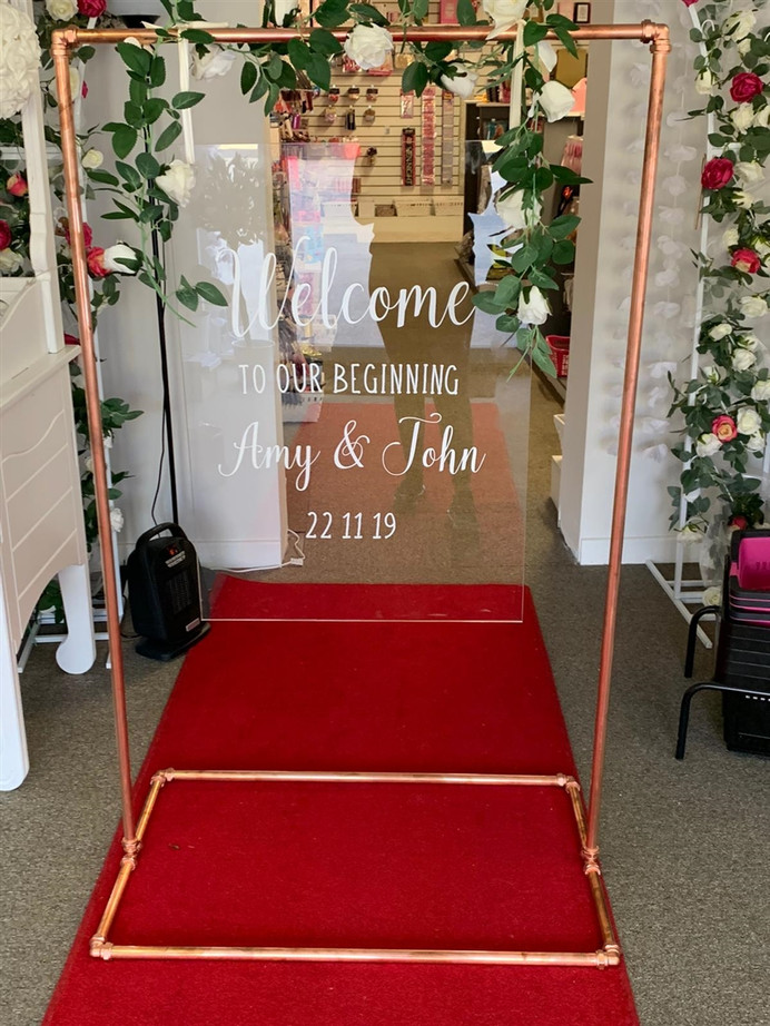 Welcome sign rental 1