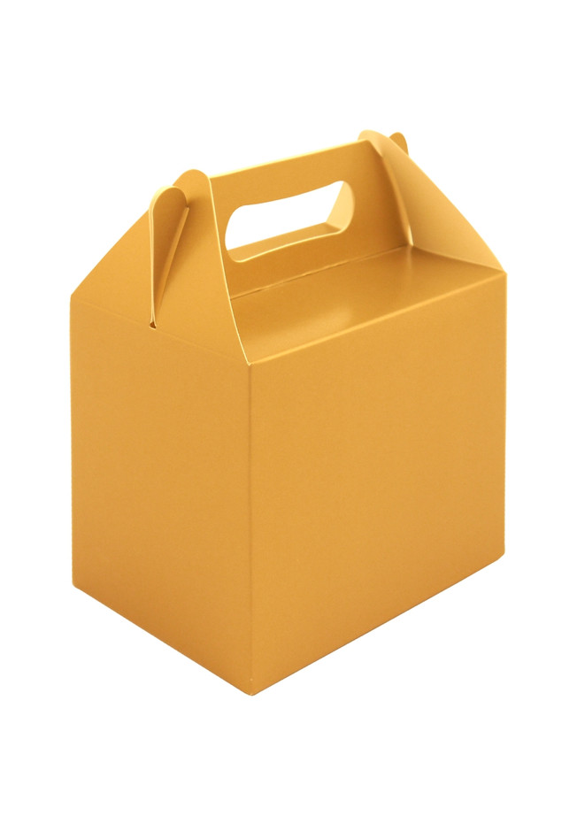 Party Box, Gold With Handles, 14lx9.5wx12hcm